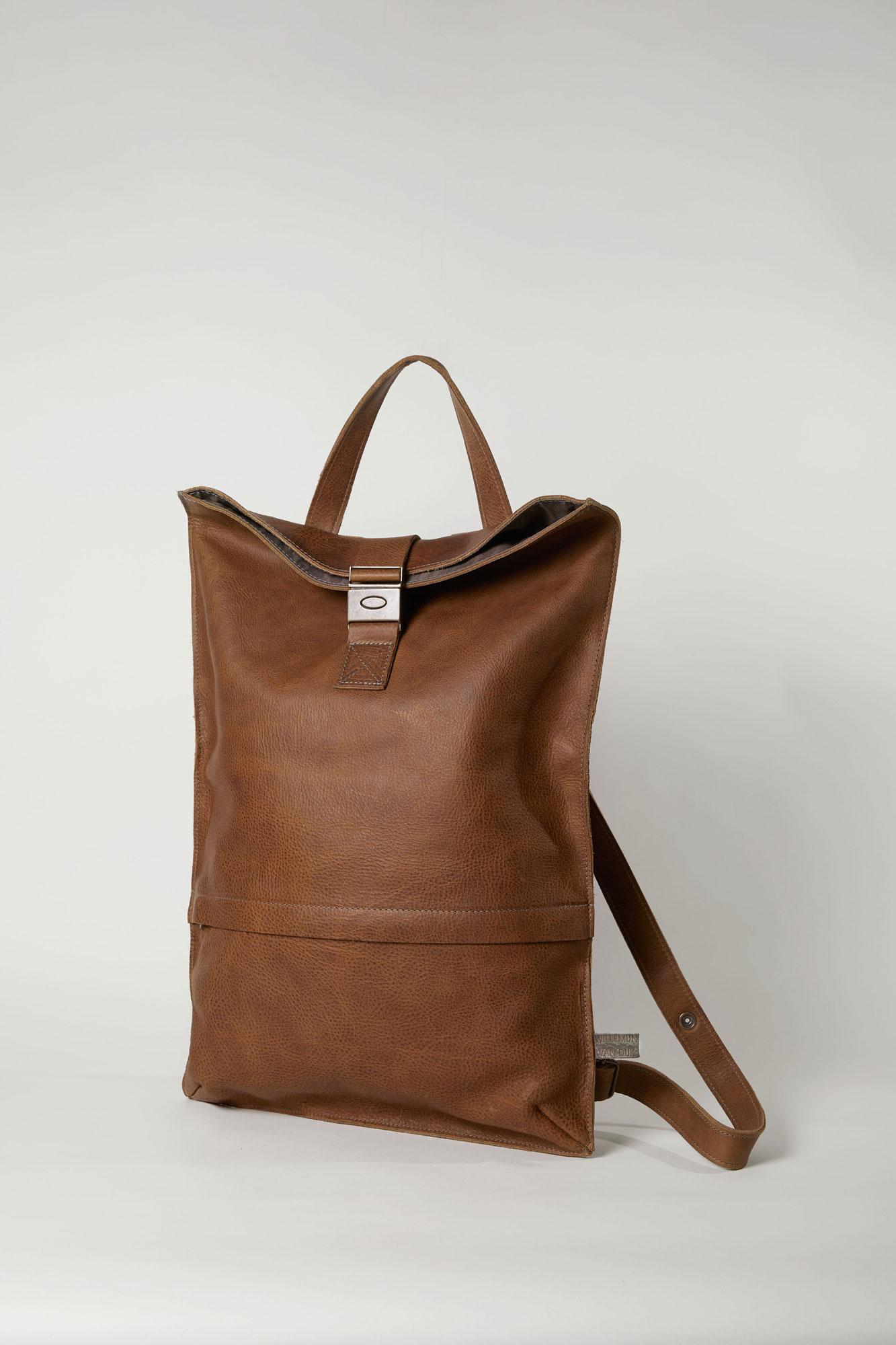 Bruine leren backpack