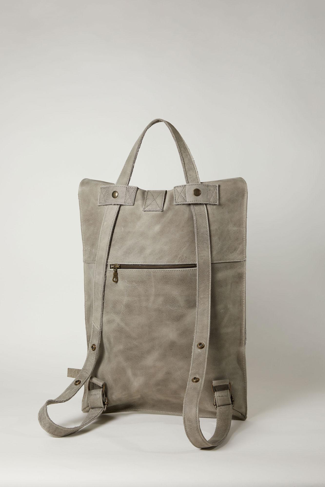 Grijze backpack met rits